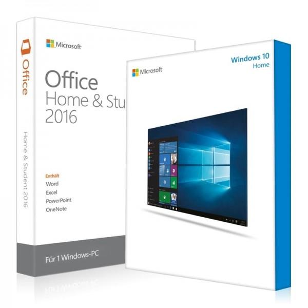 Windows 10 Home UND Office 2016 Home & Student